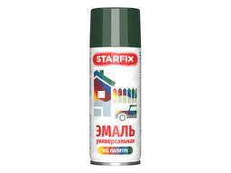 Краска-эмаль аэроз. универсальная темно-красный Starfix 520мл (3005) (Винно-красный. ..