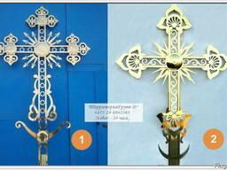Крест купольный из нерж стали с покрытием нитрид титана