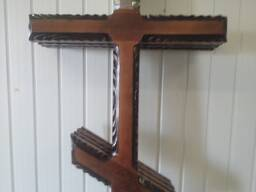 Крест ритуальный деревянный