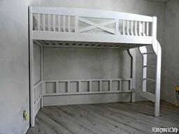 Кровать - чердак из массива сосны АТ-АТ.