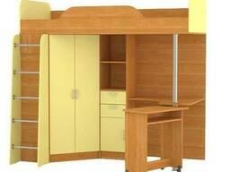 Кровать-чердак со столом 800*2000 (без матраца) 427 Т Ника
