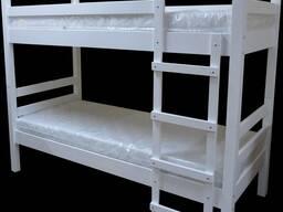 Кроватка детская двухъярусная белая