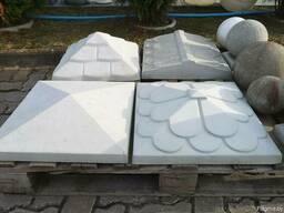 Крышки на столбы бетонные