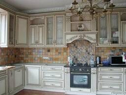 Кухни с фасадами - патина по краске