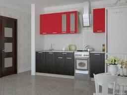 Кухня Мила, венге/красный