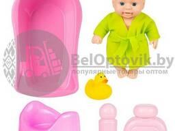 Кукла - малыш Пупс Fancy Dolls с 5-ю аксессуарами для купания PU13
