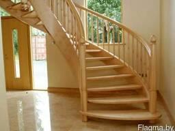 Купить деревянную лестницу на второй этаж в Минске