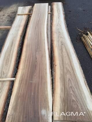 Доска необрезная дуб 32 мм