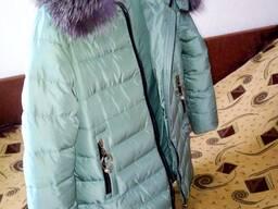 Куртка женская зимняя пуховик с капюшоном натуральный мех