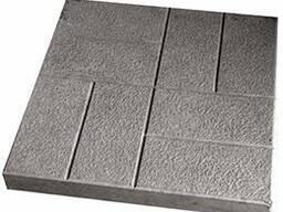 Квадрат «8 кирпичей» Крупная шагрень 40x40x5см.