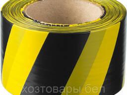 Лента сигнальная оградительная черно-желтая