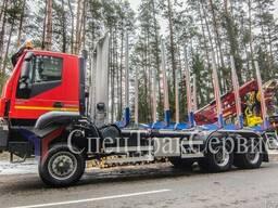 Лесовоз Iveco trakker AD380T/STS/KESLA 2009T