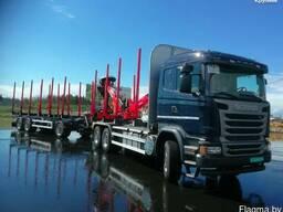 Лесовоз Scania 500 / TimberTek/ Palfinger