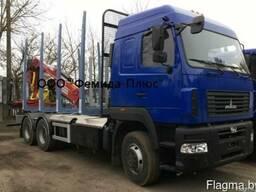 Лесовоз-сортиментовоз МАЗ-631219 Mercedes/435/Riiko/Майман