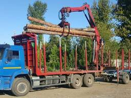 Лесовоз вездеход 6х6 с манипулятором