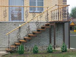 Лестница металлическая наружная - фото 5