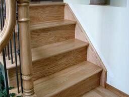 Лестницы из массива дуба, ясеня, вяза, клена.