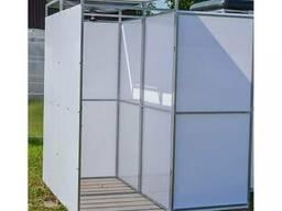 Летний душ садовый с тамбуром (бак 200л. с обогревом и без)