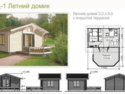 Садовые домики различных размеров и конфигурация. Жми!
