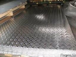Листа алюминий рифленый от 1,5 до 4,0 мм. Резка в размер.