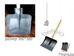 Лопата для снега пластик с черенком