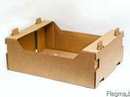 Лоток из 3-хслойного гофрированного картона (бурый), ТК-27 «