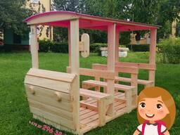 Машинка Автобус деревянные уличные надворные детские