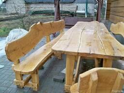 Мебель из массива дерева (садовая)