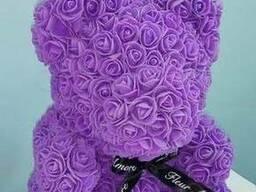 Медведи из роз.
