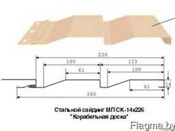 Металлический сайдинг Корабельная доска
