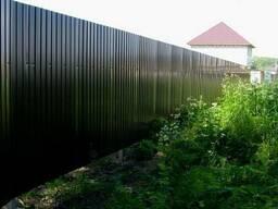 Металлический забор RAL 6005; 8017; 3005; 5005. Еврозабор