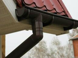 Металлочерепица водосточные системы под ключ. - фото 1
