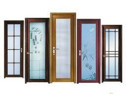Межкомнатные алюминиевые двери со стеклом