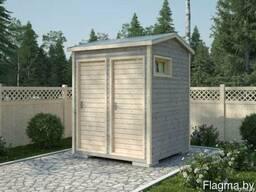 Мини сарай с двухскатной крышей 2в1