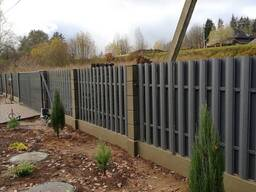 Модульный бетонный забор