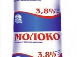 Молоко питьевое пастеризованное 3,8% жирности