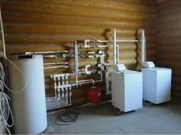 Монтаж газового напольного котла