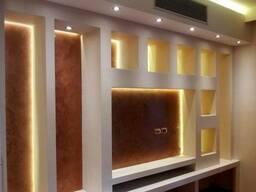 Монтаж гипсокартона: потолки, перегородки, ниши, стены
