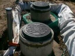 Монтаж наружной канализации, ливнёвок и дренажа. Водопровод.