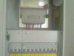 Монтаж щита учёта и распределения электроэнергии