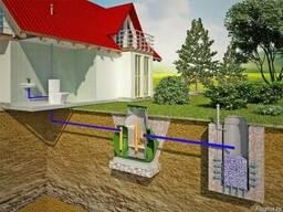 Монтаж систем канализации и септиков.