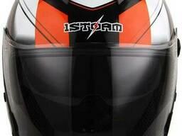 Шлем мотоцикл 1STORM HJK526 открытый с очками розовый L
