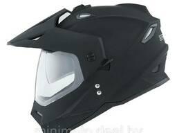 Мотошлем для мотоцикла 1STORM HF802 с очками черный глянцевый M