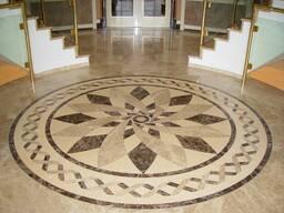 Мозаичные ковры из мрамора