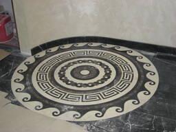 Мозаика из мрамора. Мозаика из натурального камня.
