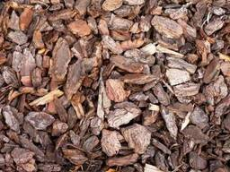 Мульча, кора сосны декоративная крупная, фракция 3-5 см