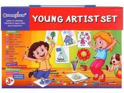 Набор для юного художника 67 предметов в чемодане на липучке