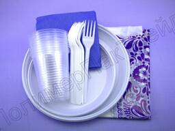 Набор одноразовой посуды для 6-10 персон.