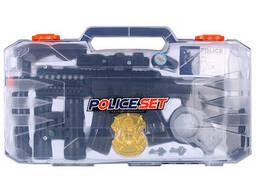 Набор полицейского 10 предметов в пластиковом боксе