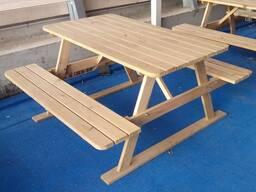 Набор садовой мебели из дерева под заказ. Вариант 2